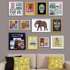 Living Room Designs, Living Room Decor, Bedroom Decor, Wall Decor, Quirky Decor, Frames On Wall, Interior Inspiration, Interior And Exterior, Diy Home Decor