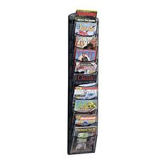 Motivated Wall Mount Vertical File Holder Organiser By Fasthomegoods Sturdy Modular Home Organization Household Supplies & Cleaning