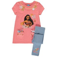 If your little one is a big Moana fan, they're sure to love this 2 piece set with matching accessories. The pure cotton top has 2 pockets. Toddler Outfits, Girl Outfits, Disney Outfits, Disney Clothes, Tops For Leggings, Disney Girls, Future Baby, Tween, Children