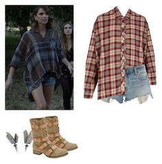 """Malia Tate - tw / teen wolf"" by shadyannon ❤ liked on Polyvore featuring The Great, Denim & Supply by Ralph Lauren and ALDO"