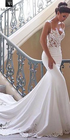 Latest No Cost Charming Tulle & Acetate Satin Spaghetti Straps Neckline Mermaid Wedding Dresses - Wedding and Bride Suggestions Beautiful Wedding Dresses ! The current wedding dresses 2019 contains twelve different dresses in th Wedding Dress Black, Top Wedding Dresses, Country Wedding Dresses, Wedding Dress Trends, Wedding Gowns, Tulle Wedding, Backless Wedding, Wedding White, Wedding Ideas
