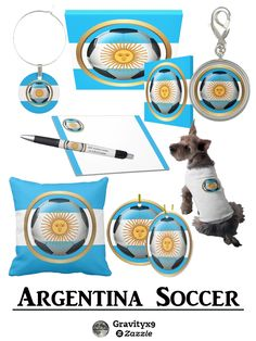 #Argentina Soccer Ball Gifts and More at #Zazzle ! #Sports4you #Gravityx9 #Soccer -