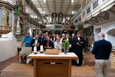 A moment of worship for LWF Council Members and celebrated guests before embarking on the #LWFPilgrimage from Coswig to Wittenberg.  #Day325 until the Twelfth Assembly.  #Assembly365 #LWFCouncil #Lutheran
