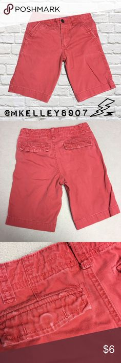 Boys Size 8 Red Distressed Denim Shorts Preowned in good condition. They are faded & have some fraying beginning at the bottom of the right leg as pictured. I personally like the Distressed look of them, but they were not purchased this way so I have these Shorts prices low. They are perfect for bundling with the other boys size 8 Shorts I have listed! Cherokee Bottoms Shorts
