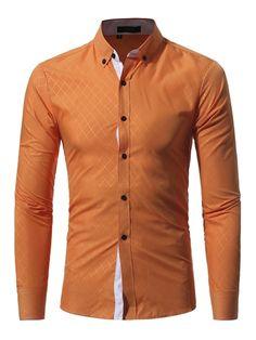 ae3a18f4178 Shirts Brand Shirt Autusmn Plaid Men Slim Fit Shirt Long Sleeve Casual  Scial Mlale Shirt Asia Size Russia Size USA EU Size Shoulder Bust Sleeve  Height ...