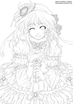 deviantART: More Like Miss boredom lineart by ~Kanza