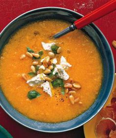 Golden Gazpacho With Feta recipe