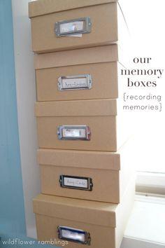 keeping a memory box {recording memories} - Wildflower Ramblings