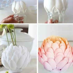 DIY Dazzle your desk or bookshelf with an artichoke-shaped vase.