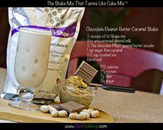 Chocolate Peanut Butter Caramel Body by Vi shake recipe.