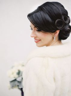 Wedding day hair: http://www.stylemepretty.com/2014/11/04/elegant-winter-wedding-in-vail-at-the-sebastian/ | Photography: Brumley & Wells - http://brumleyandwells.com/
