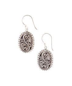Look what I found on #zulily! Sterling Silver Bali Oval Drop Earrings #zulilyfinds
