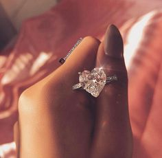 Cute Jewelry, Jewelry Rings, Jewelery, Jewelry Accessories, Heart Shaped Diamond Ring, Heart Engagement Rings, Cute Rings, Wedding Rings For Women, Dream Ring