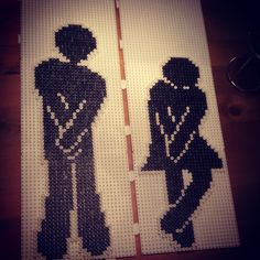 Toilet sign hama perler beads by kreativamorsan