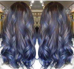 "Fanola Hair Color on Instagram: ""|| TITANIUM BLUE || @deseraytee"""