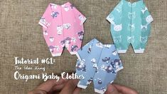 How to DIY Origami Baby Clothes?   The Idea King Tutorial #61