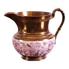 19th Century Copper and Pink Lustre Jug