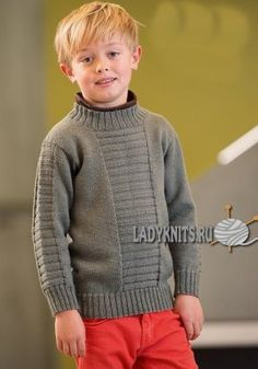 Modell til jr Knitting Patterns Boys, Knitting For Kids, Baby Knitting, Woolen Sweater Design, Toddler Outfits, Kids Outfits, Gents Sweater, Pullover Design, Baby Pullover