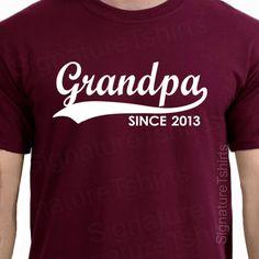 GRANDPA Since ANY YEAR tshirt t shirt custom gift idea new