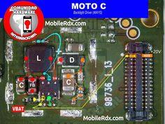 Motorola Moto C Display Light Ways Backlight Jumper Solution Mobile Phone Repair, Hardware, Black Screen, Jumper, Smartphone, Android, Display, Board, Motorbikes