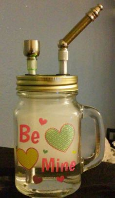 Source: 420weedmart.com  Be Mine Love Mason Jar Tobacco Pipe DIY Handmade by SeniorBubbles