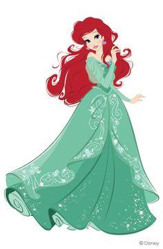 The little mermaid, Ariel Disney Princess illustration by Jenny Chung Walt Disney, Disney Pixar, Disney Fan Art, Disney And Dreamworks, Disney Girls, Disney Love, Disney Magic, Disney Characters, Goth Disney