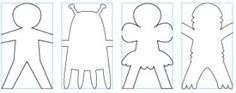 Printable Chain Paper Doll Template
