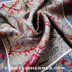 Hermes Paris silk Gavroche pocket necktie bandana Scarf designed by Maurice Tranchant titled Pavement featuring adorable deer Capricorn tiger tulips grapes in ancient Mosaic style  available now in our #foreverhermes http://forever-hermes.com authentic Hermes Carre store.