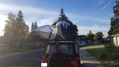 Jeep all Hitchmount-Rack'd up in CA – Mission Systems LLC Red Jeep, Kayak Rack, Jeep Jk, Wrangler Unlimited, Kayaking, Travel, Outdoor, Outdoors, Trips