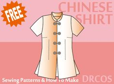 Free Japanese Cosplay Costume Sewing Pattern! You can learn to sew Japanese patterns at www.japanesesewingpatterns.com