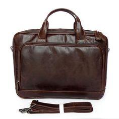 a56c77baf0eb Leather Family — Cowhide Business Bag Messenger Shoulder Tote 15