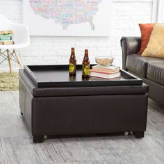 Belham Living Corbett Square Coffee Table Storage Ottoman   The Luxuriously  Elegant Corbett Coffee Table Storage