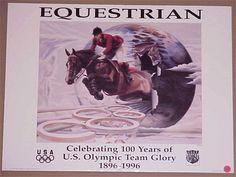 Atlanta 1996 Official Olympic USOC Equestrian Poster 2 | eBay Atlanta Olympics, Olympic Team, Equestrian, Celebrities, Movie Posters, Ebay, Art, Craft Art, Horseback Riding