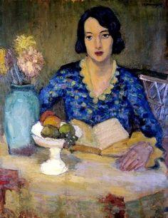 """Zbigniew Pronaszko (1885-1958) """"Portrait of artist's wife"""""""