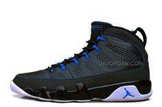 detailed look 10b2e 043bc Air Jordan 9 Retro Black Photo Blue-White Cheap For Sale Online