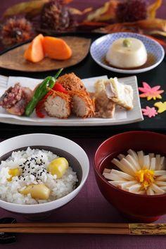 Tasting of early autumn of Japan - craving kuri gohan...