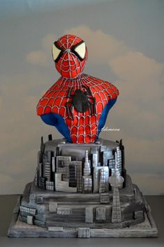 Spiderman Cake Ideas for Little Super Heroes - Novelty Birthday Cakes Superhero Theme Party, Superhero Birthday Cake, Novelty Birthday Cakes, Novelty Cakes, Man Birthday, Birthday Ideas, Teenage Boy Birthday, Marvel Cake, Superhero Spiderman