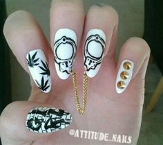 dopeness this fresh should be LEGALIZED bad ass dope nail porn Sexy Nails, Dope Nails, Stiletto Nails, Gorgeous Nails, Pretty Nails, Acrylic Nail Designs, Acrylic Nails, Graffiti, Pretty Nail Designs