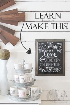 DIY chalkboard art on painted canvas! Learn how to make this! Easy and 100% fool proof for beginners! DIY farmhouse decor. DIY chalkboard lettering. How to paint like a pro!