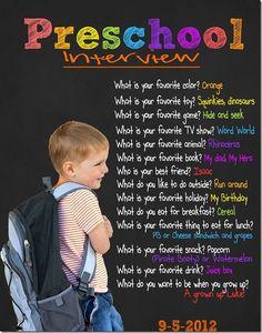 Preschool Interview