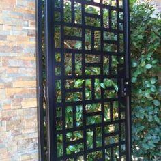 contemporary metal gate walk thru iron garden estate modern ornamental by