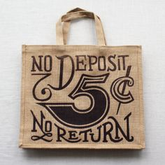 """I was always told, """"You have to put in to get out."""" With this reenforced jute (burlap) bag, you can save the Earth one grocery bag at a time. Measuring 13"""" x 15"""" and having a 4.5"""" expandable base, this bag is ready to sling over your shoulder and earn it's keep.- Hand wash as needed.- Single color, limited run design.- Ready to carry up to 25lb. even if you're not."""