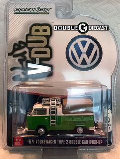 1:64 GREENLIGHT CLUB VEE-DUB SERIES 5 - 1971 VOLKSWAGEN TYPE 2 DOUBLE CAB PICK-U #Greenlight #Volkswagen