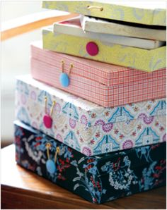 This Danish brand will definitely make you smile. Enjoy those bright , HAPPY colors! I'd really love to have some pretty patterned. House Doctor, Small Storage Boxes, Van Home, Prayer Box, Handmade Books, Diy Box, Paper Cover, Happy Colors, Party Accessories