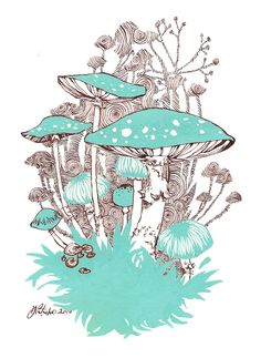 Ode to Mushrooms by curiousmoth on @DeviantArt