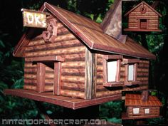 Here is a pretty neat papercraft model by Gipi, of DK's Treehouse. Donkey Kong's Treehouse first appeared in Donkey Kong Country were it is the starting point of the game. The house is rather nice ...