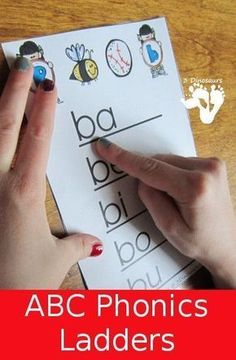 Free ABC Phonics Ladders – Learning Printables Blog Hop - 3Dinosaurs.com