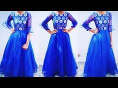 stylish long net gown cutting and stitching in hindi Net Gowns, Long Frock, Prom Dresses, Formal Dresses, Frocks, Stitching, Boutique, Sewing, Stylish