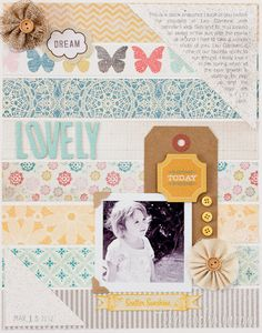 like the strips of paper for the background, and I really like how the journaling is contained in the triangle. (note: date is stamped in opposite corner triangle)