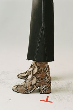 Free People boots are designed to look good with any outfit. Shop our collection of leather boots, knee high boots, and ankle boots for women. Snakeskin Boots, Black Heel Boots, Heeled Boots, Ankle Boots, Snake Skin Shoes, Punk Shoes, Fall Booties, Fall Fashion Trends, Fashion Brands